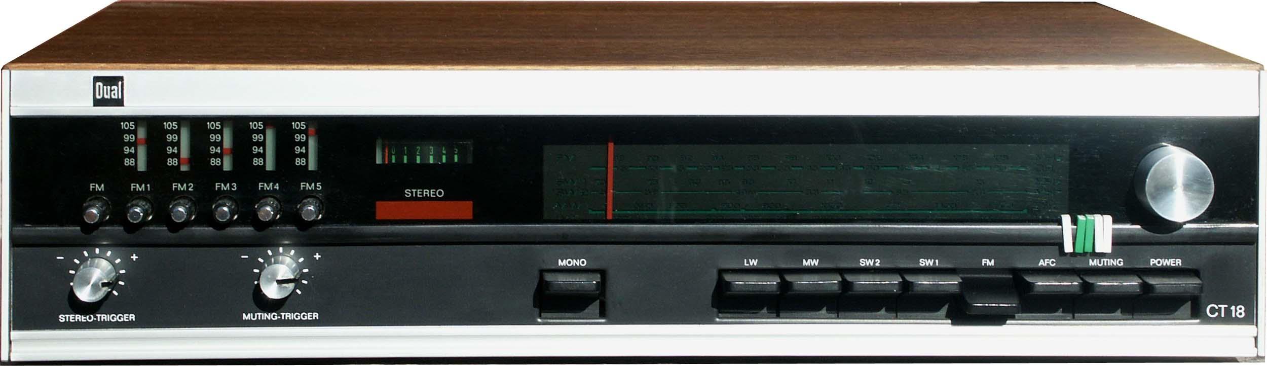 Drucker, Geräte von Dual, Röhrenradios